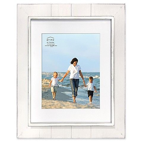 Prinz Coastal 11 Inch X 14 Inch Matted Grooved Wood Plank Picture Frame In Grey Blue Picture Frames Wood Planks Picture Frames