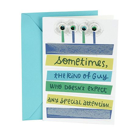 Hallmark Birthday Greeting Card For Him Special Attention Hallmark Birthday Card Birthday Cards For Him Cards