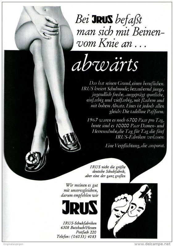Original-Werbung/ Anzeige 1969 - IRUS - SCHUHE - BUTZBACH - ca. 180 x 240 mm