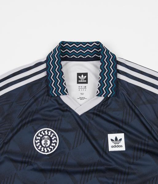 Adidas Bootleague Jersey - Black / Collegiate Navy / Active Teal ...