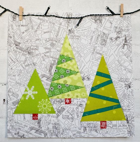 Paper Pieced Christmas Tree Pattern: Trees, Christmas Trees And Cheer On Pinterest