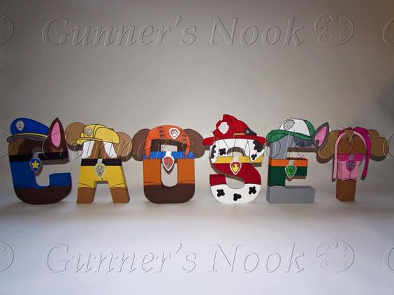 PAW Patrol Character Inspired Nursery Letter Art by CreationsLK - character letter
