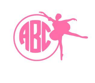 Ballerina Monogram Decal