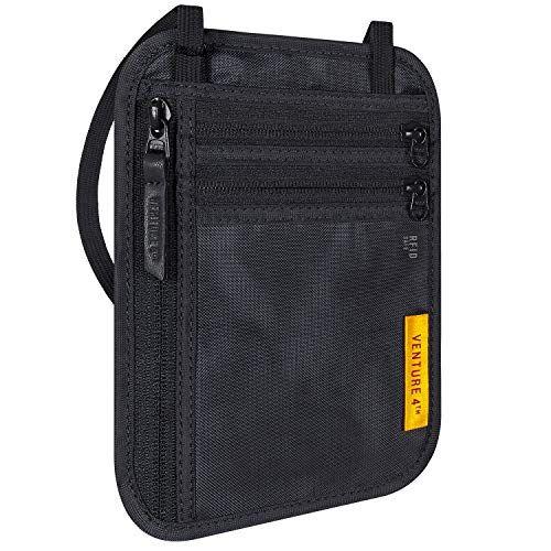 Venture 4th Travel Wallet Rfid Passport Holder Security Neck Pouch Rfid Passport Neck Wallet Rfid Wallet