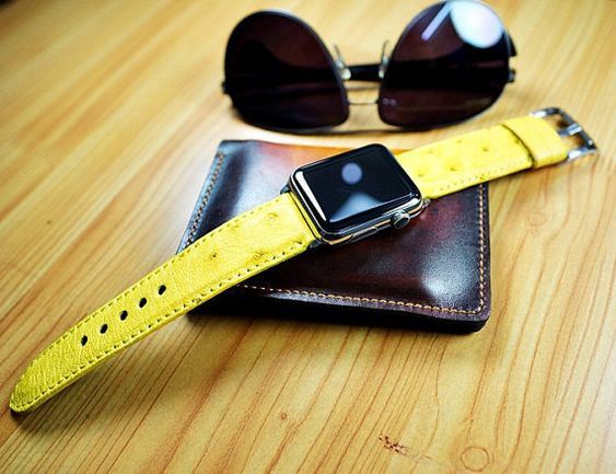 Apple Watch Band Black Forest Atelier-Yellow от NameEngraved