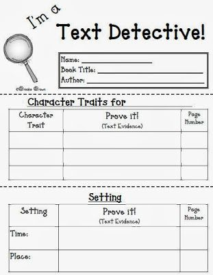 Fern's Freebie Friday ~ I'm a Text Detective Reading Response Mini-Booklet