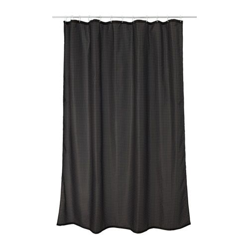 Saxalven Shower Curtain Anthracite 71x71 Curtains Ikea