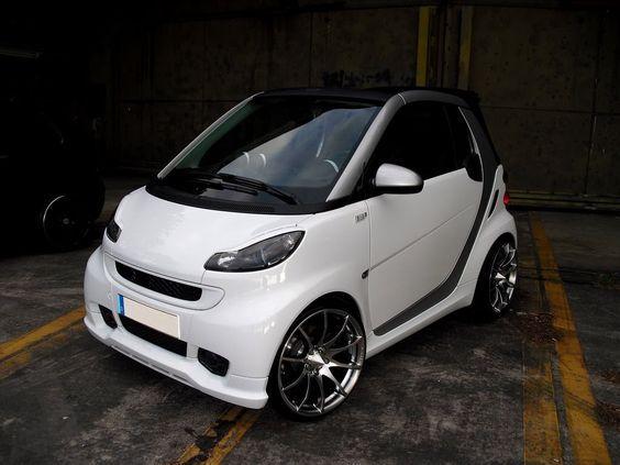 White Smart Fortwo Smart Car Smart Auto Smart Fortwo