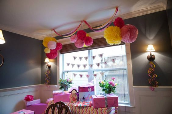 Pink and Yellow 1st Birthday party decor / Sprinkle of Confetti