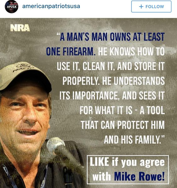 Very sensible......DAMN RIGHT.....EVEN MIKE ROWE GET'S IT PEOPLE.....AND MOST OF AMERICAN'S DO TOO......JOIN THE N.R.A. PEOPLE......IT'S  A POWERFUL GROUP OF PEOPLE THAT HAS COMMON SENCE ON GUN CONTROL......UNLIKE THE OBAMA ADMINISTRATION WHICH IS INCOMPETENT AS HELL....GET IT NOW.?