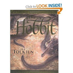 OOOH!! I really want to get Luke this hardcover annotated version of the Hobbit! And the illustrations look amazing too....: