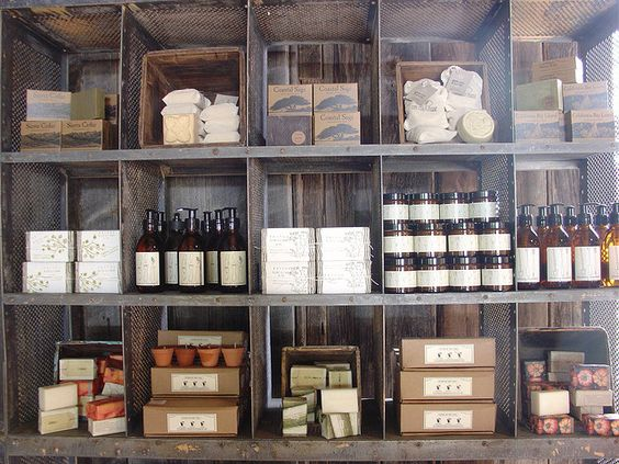 cool display for things like my teas, or hand soaps, or candles. you know...so basically everything they have in there, but our own product.