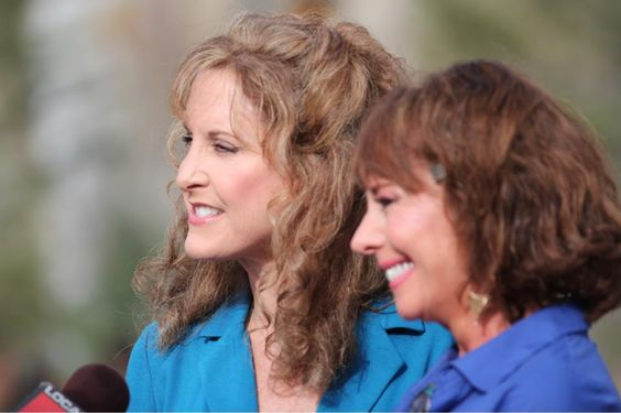 Jodi Benson (voice of Ariel) and Paige O'Hara (voice of ...