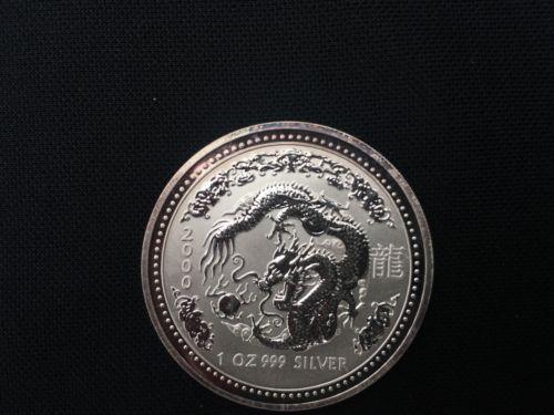 Bullion 2000 Australian Lunar Year Of The Dragon 1 Oz Silver Coin Uncirculated Silver Coins Year Of The Dragon Bullion
