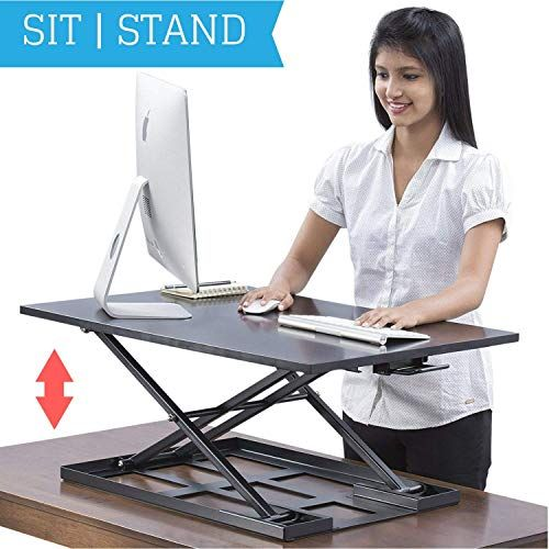 Eletab Electric Standing Desk Converter Height Adjustable Sit Stand Desk Riser Stan Standing Desk Converter Sit Stand Desk Adjustable Electric Sit Stand Desk