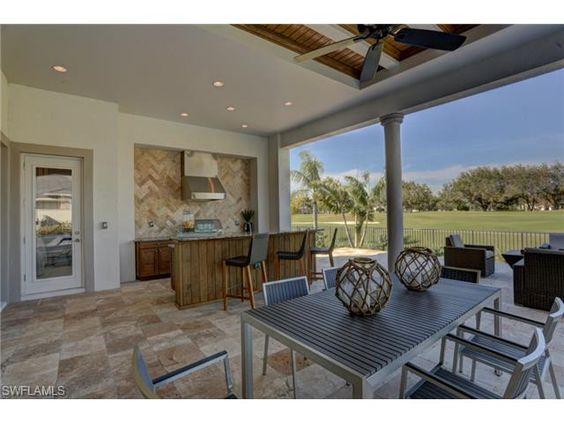 5899 Burnham Rd, Naples, FL 34119 | Lanai with golf view in Quail West, Naples, Florida  - Melinda Gunther