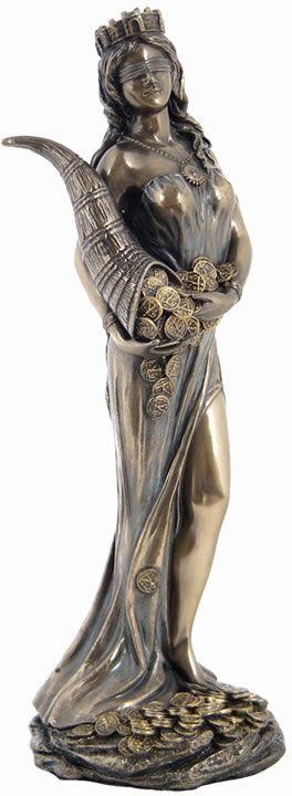 Fortuna Greek Goddess Of Fortune Statue Sculpture Figurine