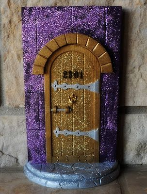 Homemade spring and tooth fairy doors on pinterest for Homemade elf door