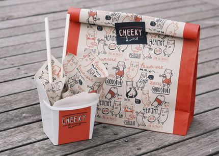 Cheeky Buns by Holly van who, via Behance