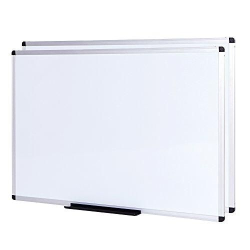 Viz Pro Dry Erase Board Whiteboard Non Magnetic 2 Pack 36 X 24 Inches Wall Mounted Board For School Office And Home Mount Board Dry Erase Board Dry Erase