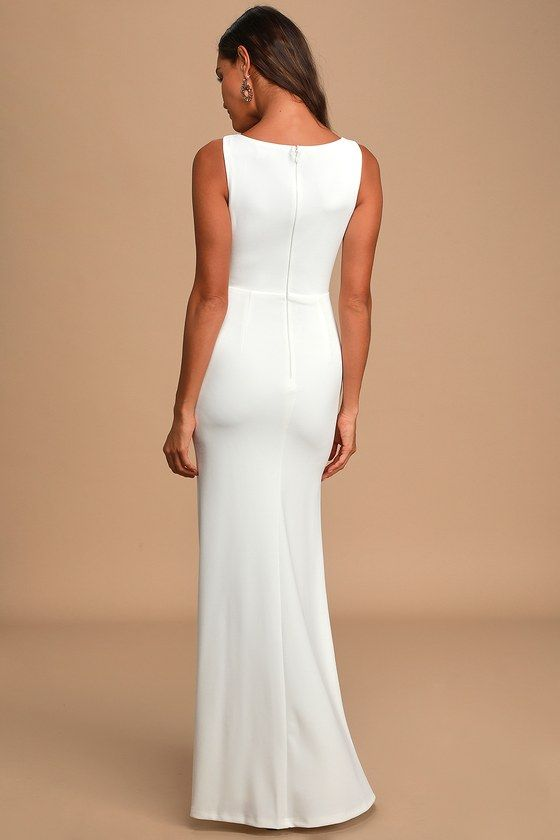 Take A Vow White Lace Sleeveless Mermaid Maxi Dress In 2020 Dresses Sheeth Dress White Lace