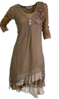 Pretty Angel Clothing Delilah Dress in Brown: