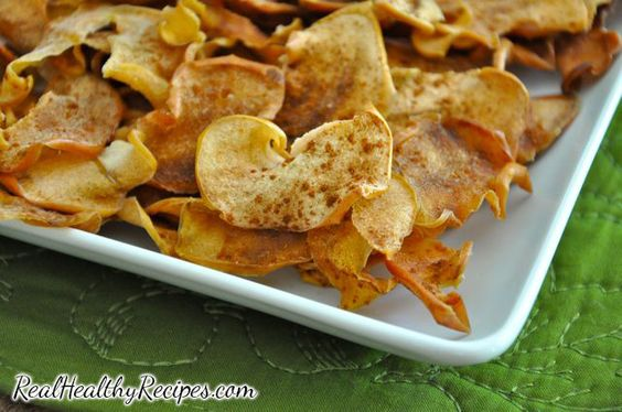 Baked apple chips recipe.