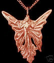 Rose Gold Plated  CELTIC GODDESS FAIRY QUEEN Charm Sterling Silver 925 Jewelry:
