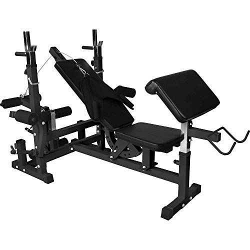 Marcy Pro Pm4400 Leverage Home Multi Gym And Bench Hiit Fitness Home Multi Gym Multi Gym Bodybuilding Accessories