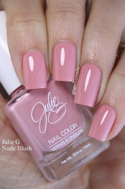 julie g nude blush grape fizz nails