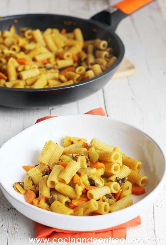 Cocinando entre olivos macarrones integrales con verduras for Cocinando entre olivos