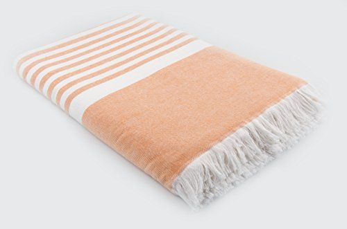 Lunasidus Luxury Turkish Cotton Oversize Striped Beach Towel Beach