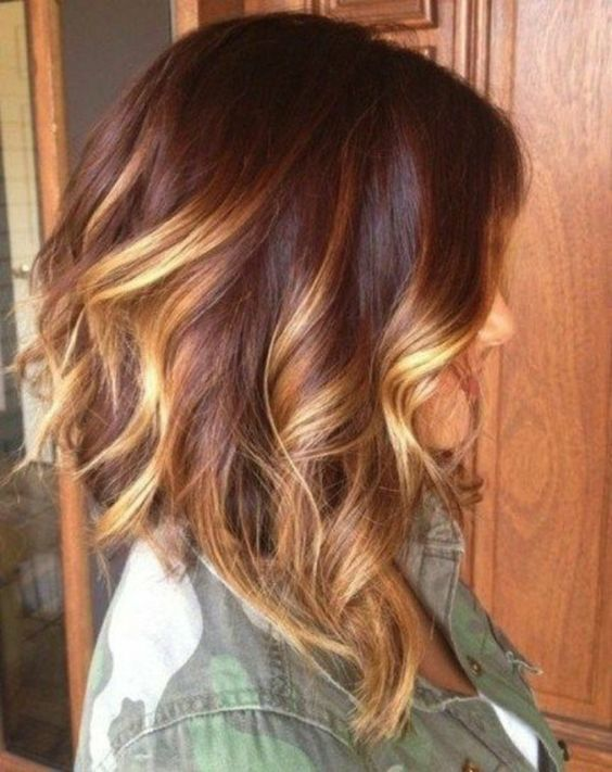coloration chocolat pour votre coupe de cheveux courte coupe de cheveux bob - Coloration Chocolat Caramel