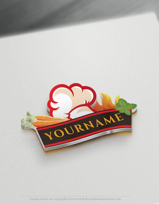 Make A Chef Logo With Our Restaurant Logo Maker Online Free Logo Maker Logo Restaurant Logo Design Free Templates
