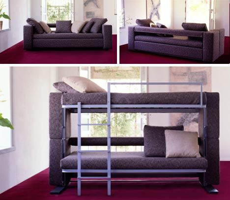 Sofa and bunk bed combo
