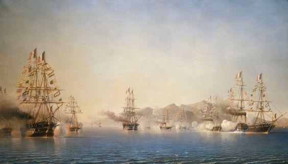 L'Arrivee sur la Rade de Toulon du Prince President (Napoleon III), le 27 September 1852 by Antoine-Leon Morel-Fatio