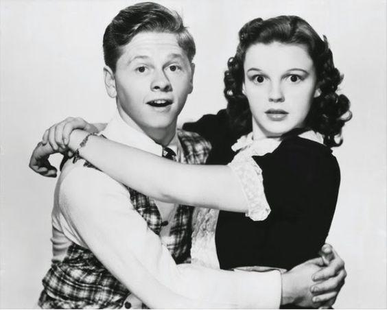 Mickey Rooney y Judy Garland.