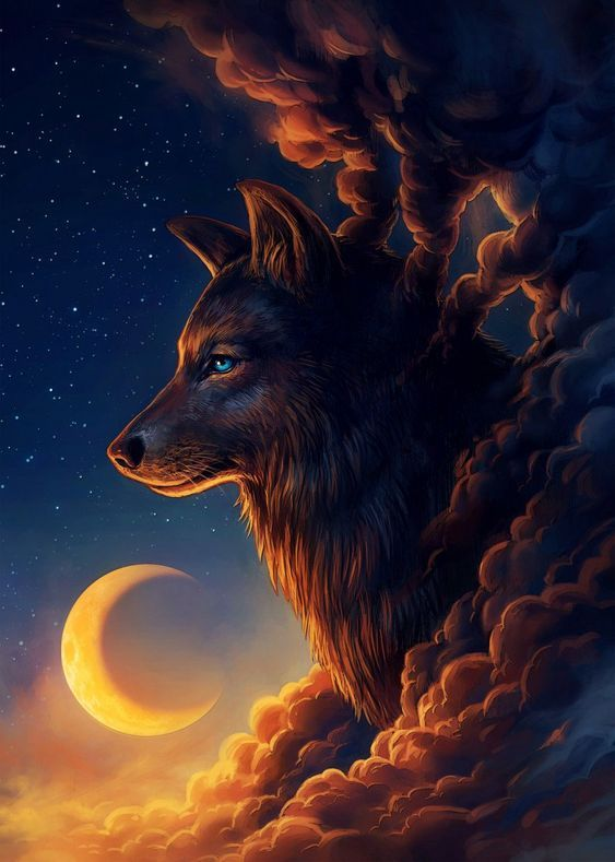 Wolf Vector At Dusk And Click Image To Get Collection Of Images In 2020 Wolf Painting Wolf Wallpaper Wolf Artwork