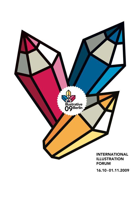 Illustrative Berlin - logo and 2009 poster by Studio Apfel Zet