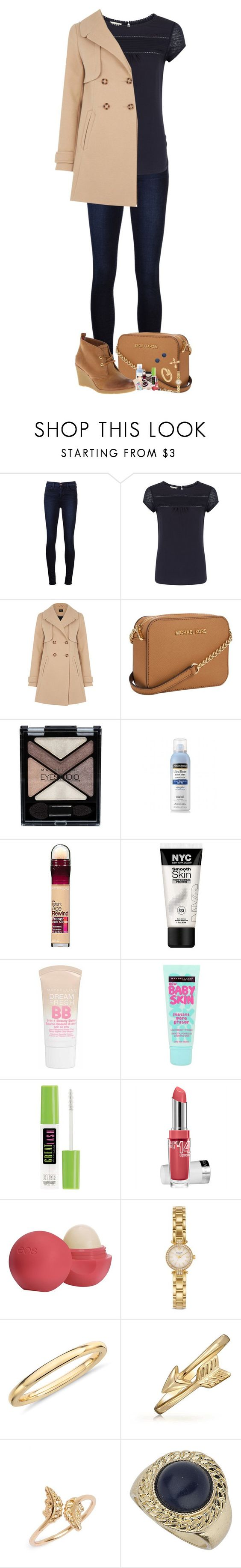 """She Wolf Queen"" by nessiecullen2286 ❤ liked on Polyvore featuring J Brand, Monsoon, Oasis, Michael Kors, Maybelline, Sperry Top-Sider, Neutrogena, Eos, Kate Spade and Blue Nile"