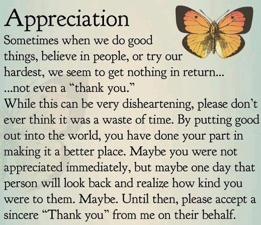 Words Of Thanks And Appreciation Quotes: Inspirational Quotes For Difficult Times