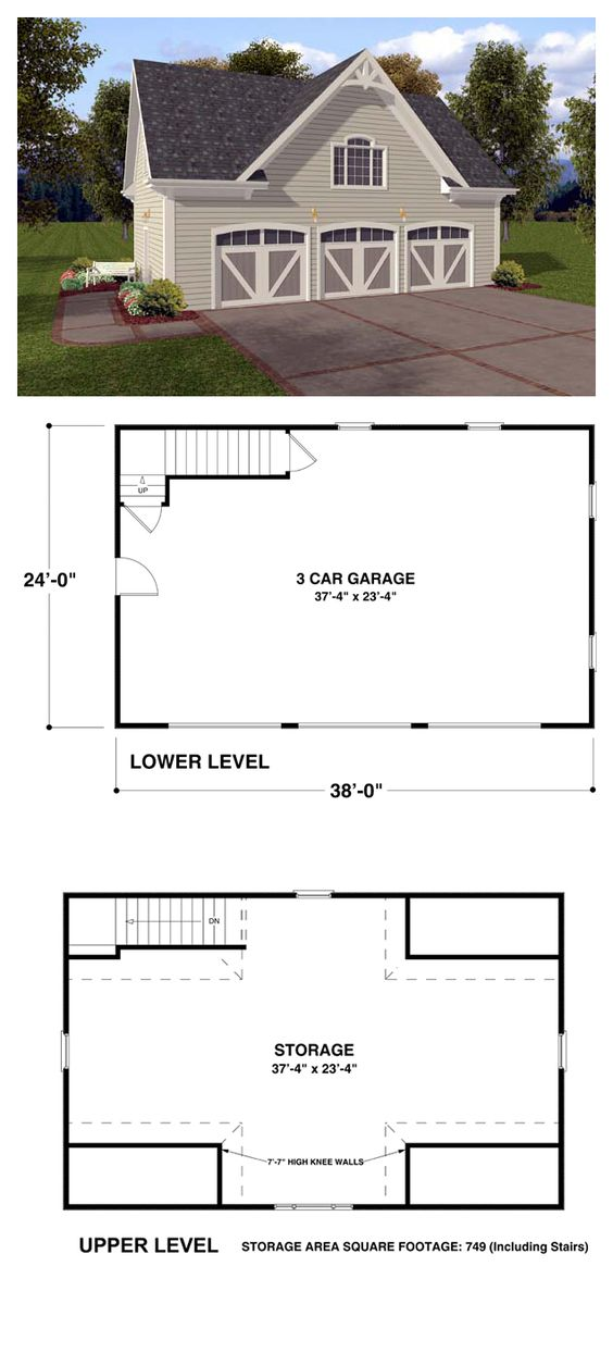 Garage Plan 74802 Cars Studios And Country