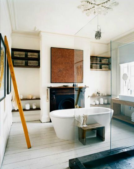 fireplace in bathroom... YES PLEASE!