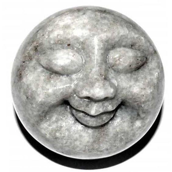 Happy Face Mondgesicht ca. 5 cm Christallina Marmor Schweiz - Schweizer-Steine - Cleopatra's Duft-Oase