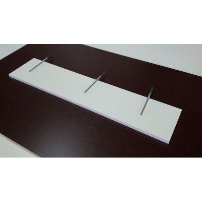 Prateleira Com Suporte Invisivel 25x70 Branca ( Kit C/ 5 ) - R$ 167,00 em Mercado Livre