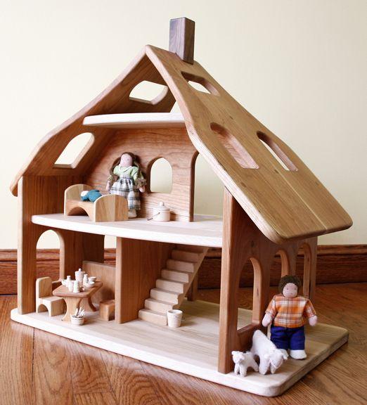 maison de petites poupées: Dolls Houses, Wooden Things, Corner, Kids Inside, Kids Wooden, Wooden Toys, Doll Houses