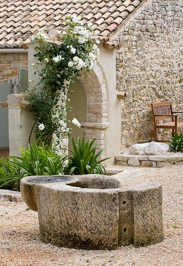 The Rou Estate, Corfu, Clive Nichols photo. Romantic French Country Garden Courtyard Ideas