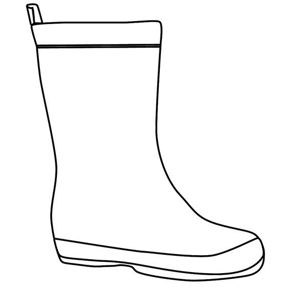 Rain Boots Coloring Page | Clipart Panda - Free Clipart ...