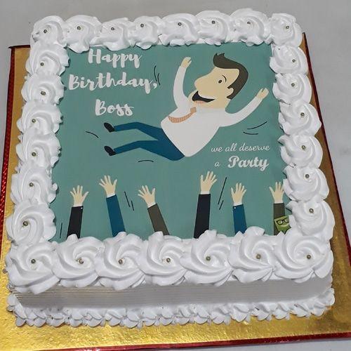 Excellent Photo Cakes Online Delivery Boss Birthday Photo Cake Cake Online Funny Birthday Cards Online Benoljebrpdamsfinfo