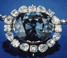 Hope Diamond: The Hope Diamiond is the previous record holder for being the largest faceted diamond and is probably the most well known and historically interesting of all diamonds. The Hope Diamond was originally known as the Tavernier Blue which was a crudely cut triangular diamond. According to legend, it was stolen from an Indian statue of Sita and purchased by Jean-Baptiste Tavernier around 1660. The diamond was sold to King Louis XIV of France who had it cut into a 67.125 carat stone: